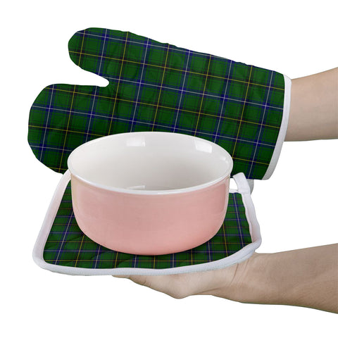 Image of Henderson Modern Clan Tartan Scotland Oven Mitt And Pot-Holder (Set Of Two)