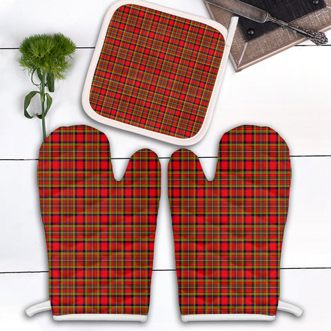 Hepburn Clan Tartan Scotland Oven Mitt And Pot-Holder (Set Of Two)