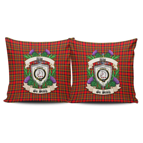 Hepburn Crest Tartan Pillow Cover Thistle (Set of two) A91 | Home Set