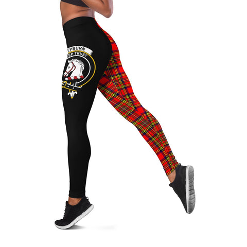 Hepburn Crest Tartan Leggings | Over 500 Tartans | Special Custom Design