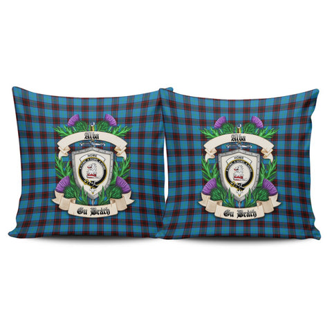 Home Ancient Crest Tartan Pillow Cover Thistle (Set of two) A91 | Home Set