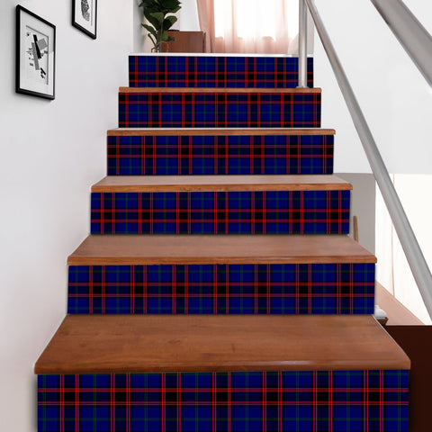 Image of Scottishshop Tartan Stair Stickers - Home Modern Stair Stickers A91