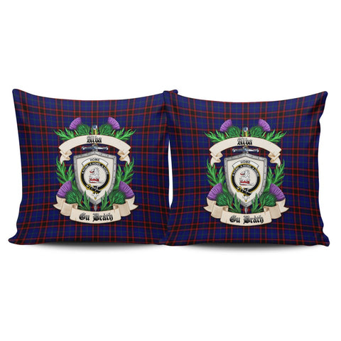 Home Modern Crest Tartan Pillow Cover Thistle (Set of two) A91 | Home Set