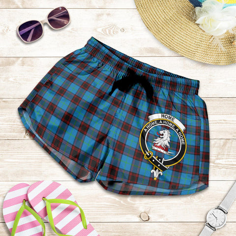 Image of Home Ancient crest Tartan Shorts For Women