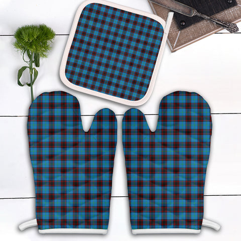 Home Ancient Clan Tartan Scotland Oven Mitt And Pot-Holder (Set Of Two)
