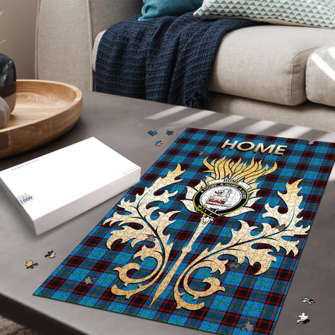 Home Ancient Clan Name Crest Tartan Thistle Scotland Jigsaw Puzzle