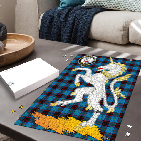 Image of Home Ancient Clan Crest Tartan Unicorn Scotland Jigsaw Puzzle