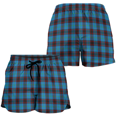 Image of Home Ancient Crest Tartan Shorts For Women K7