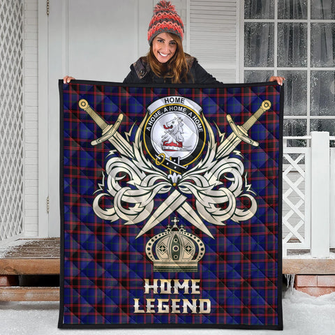 Home Modern Clan Crest Tartan Scotland Clan Legend Gold Royal Premium Quilt