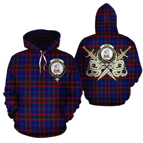 Home Modern Clan Crest Tartan Scottish Gold Thistle Hoodie