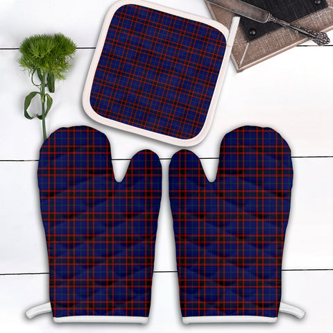 Image of Home Modern Clan Tartan Scotland Oven Mitt And Pot-Holder (Set Of Two)