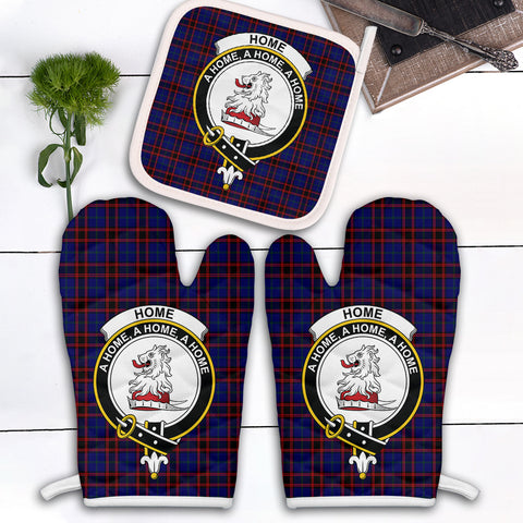 Image of Home Modern Clan Crest Tartan Scotland Oven Mitt And Pot-Holder (Set Of Two)