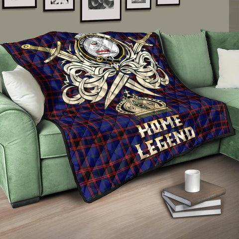 Home Modern Clan Crest Tartan Scotland Clan Legend Gold Royal Premium Quilt K9