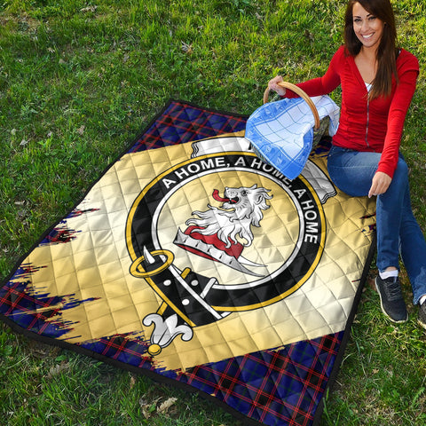 Home Modern Clan Crest Tartan Scotland Gold Royal Premium Quilt K9