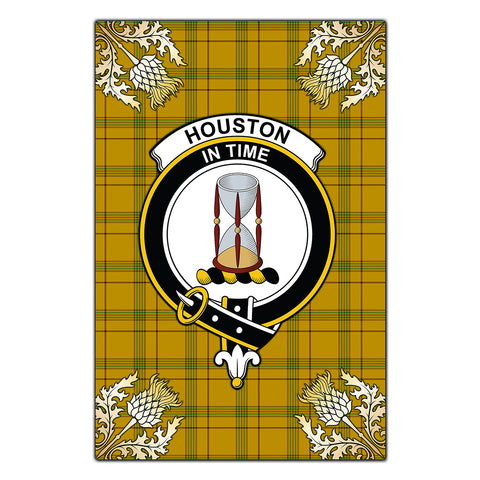 Garden Flag Houston Clan Crest Gold Thistle New