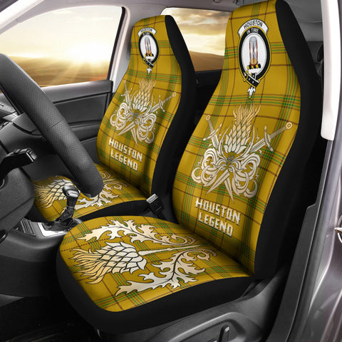 Car Seat Cover Houston Clan Crest Gold Thistle Courage Symbol