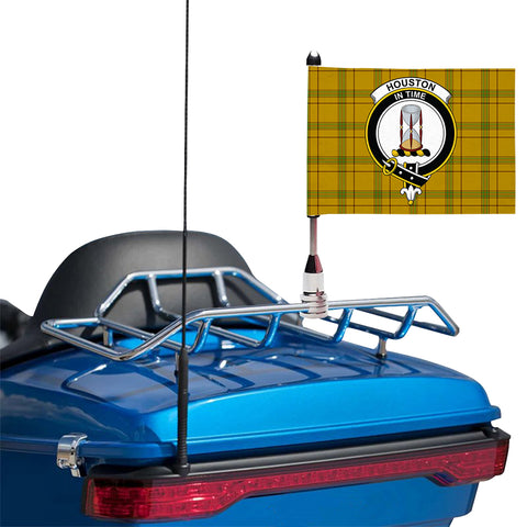 Houston Clan Crest Tartan Motorcycle Flag