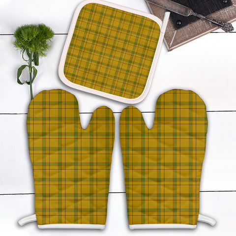 Houston Clan Tartan Scotland Oven Mitt And Pot-Holder (Set Of Two)