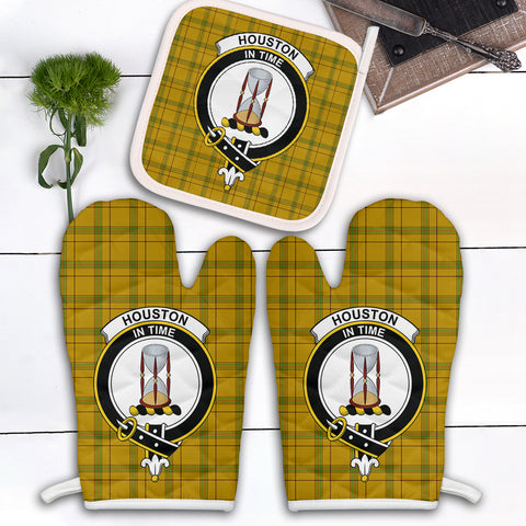 Houston Clan Crest Tartan Scotland Oven Mitt And Pot-Holder (Set Of Two)