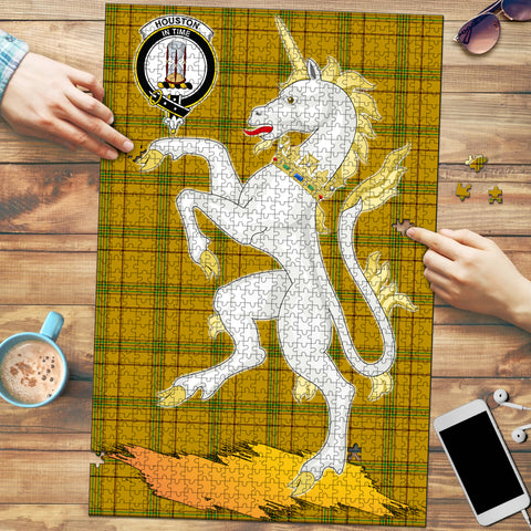 Houston Clan Crest Tartan Unicorn Scotland Jigsaw Puzzle