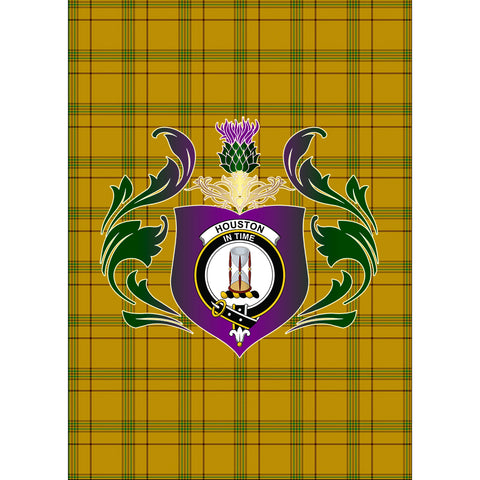 Houston Clan Garden Flag Royal Thistle Of Clan Badge