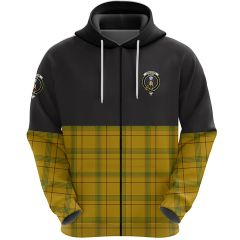 Houston Clan Zip Hoodie Half of Tartan