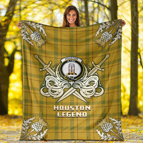 Premium Blanket Houston Clan Crest Gold Courage Symbol
