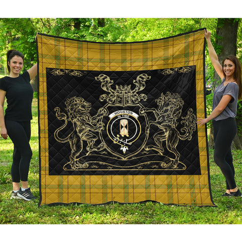 Houston Clan Royal Lion and Horse Premium Quilt