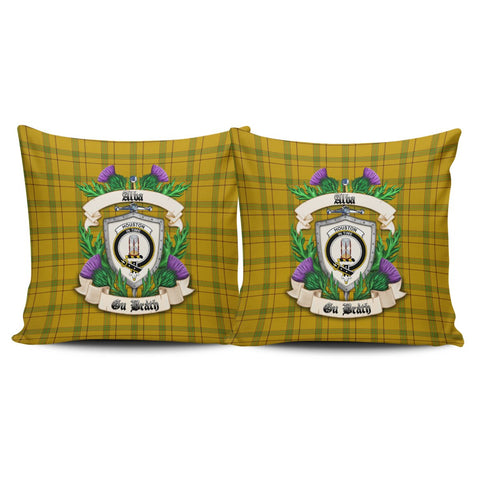 Houston Crest Tartan Pillow Cover Thistle (Set of two) A91 | Home Set