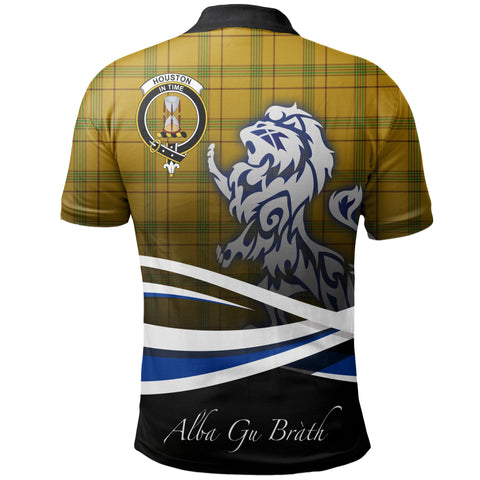 Houston Polo Shirts Tartan Crest Scotland Lion A30