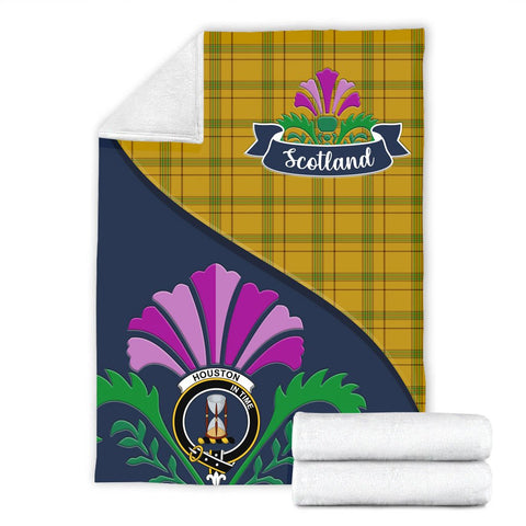 Houston Crest Tartan Blanket Scotland Thistle A30