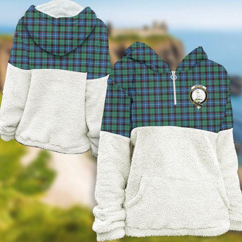 Hunter Ancient Tartan Clan Flannel Hoodie Women A91