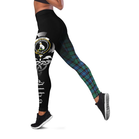 Hunter Ancient Crest Tartan Alba Celtic Leggings | Over 500 Tartans | Special Custom Design