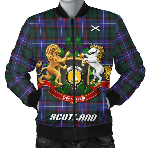 Image of Hunter Modern | Tartan Bomber Jacket | Scottish Jacket | Scotland Clothing