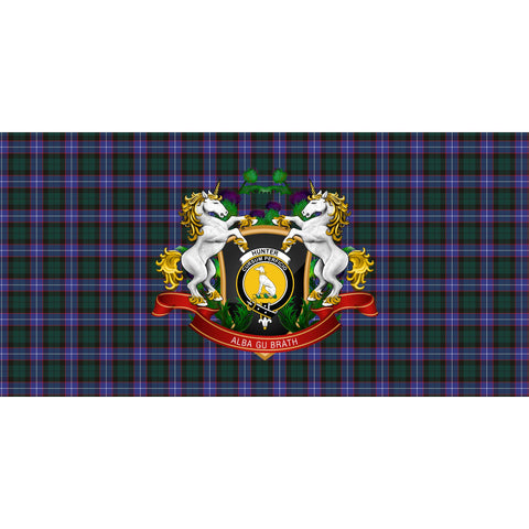 Hunter Modern Crest Tartan Tablecloth Unicorn Thistle A30