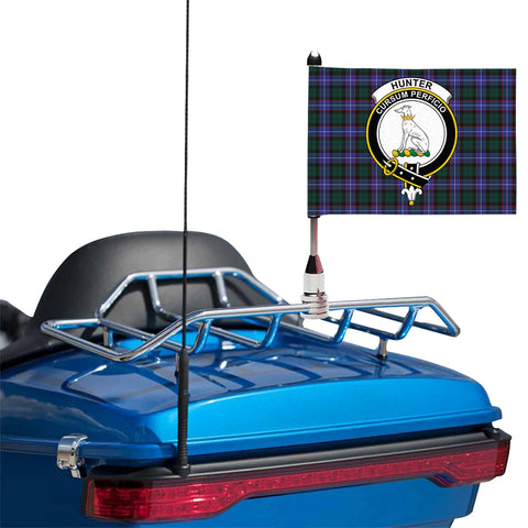 Hunter Modern Clan Crest Tartan Motorcycle Flag