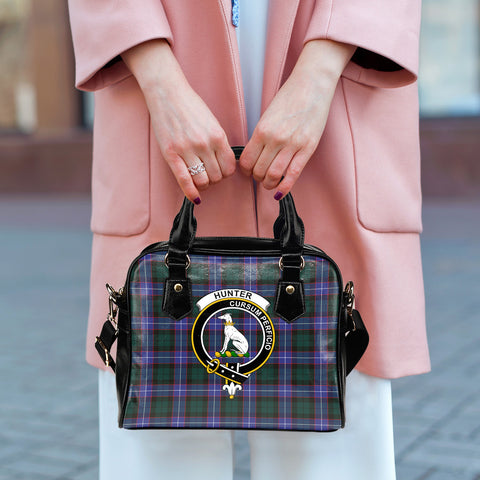 Image of Hunter Modern Tartan Clan Shoulder Handbag | Special Custom Design