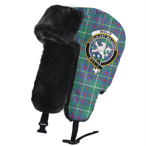 Image of Inglis Ancient Clan Crest Tartan Trapper Hat