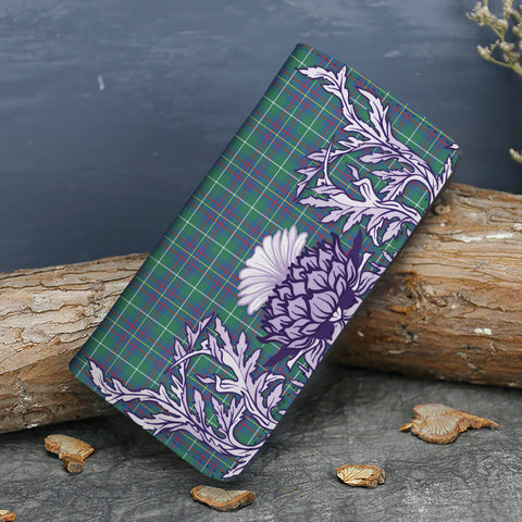 Inglis Ancient Tartan Wallet Women's Leather Thistle A91