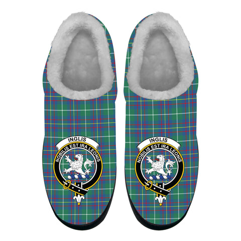 Inglis Ancient Crest Tartan Fleece Slipper (Women's/Men's) A7
