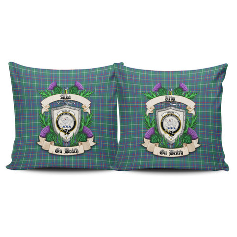 Inglis Ancient Crest Tartan Pillow Cover Thistle (Set of two) A91 | Home Set