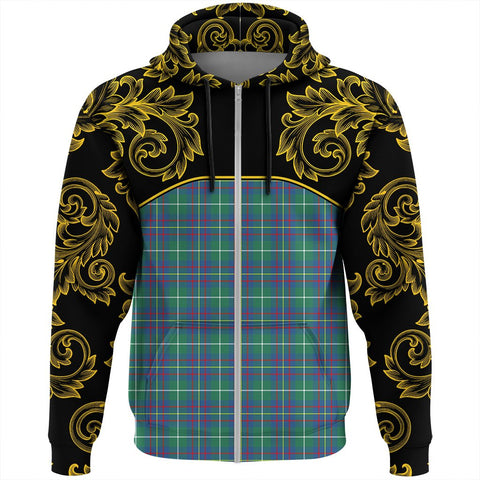 Inglis Ancient Tartan Clan Crest Zip Hoodie - Empire I - HJT4 - Scottish Clans Store - Tartan Clans Clothing - Scottish Tartan Shopping - Clans Crest - Shopping In scottishclans - Hoodie - Pullover For You