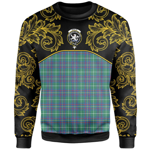 Inglis Ancient Tartan Clan Crest Sweatshirt - Empire I - HJT4 - Scottish Clans Store - Tartan Clans Clothing - Scottish Tartan Shopping - Clans Crest - Shopping In scottishclans - Sweatshirt For You