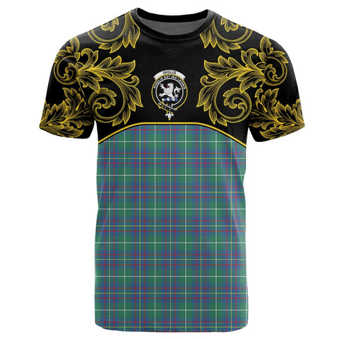 Inglis Ancient Tartan Clan Crest T-Shirt - Empire I - HJT4 - Scottish Clans Store - Tartan Clans Clothing - Scottish Tartan Shopping - Clans Crest - Shopping In scottishclans - T-Shirt - Tee For You