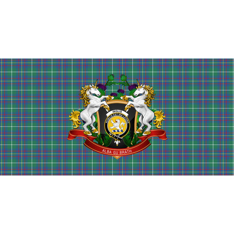 Inglis Ancient Crest Tartan Tablecloth Unicorn Thistle A30