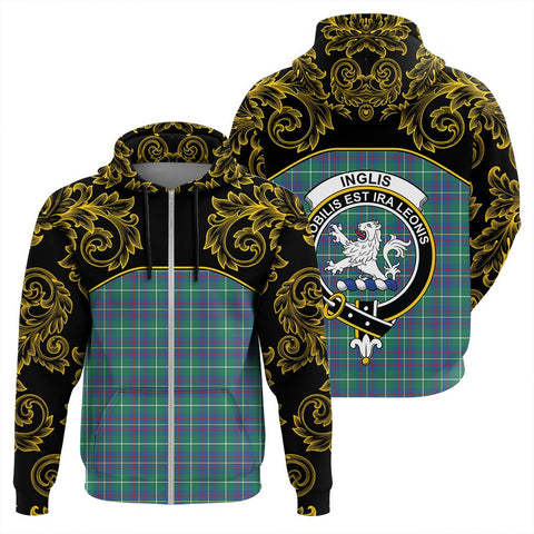 Inglis Ancient Tartan Clan Crest Zip Hoodie - Empire I - HJT4