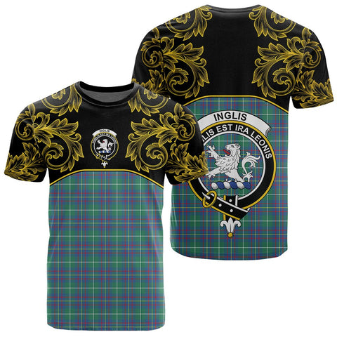 Inglis Ancient Tartan Clan Crest T-Shirt - Empire I - HJT4
