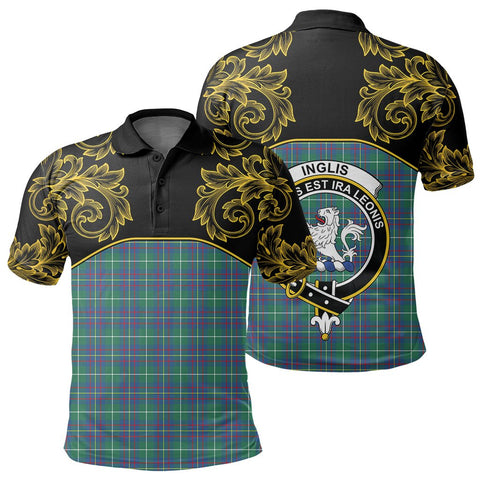 Inglis Ancient Tartan Clan Crest Polo Shirt - Empire I - HJT4