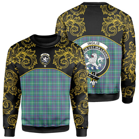 Inglis Ancient Tartan Clan Crest Sweatshirt - Empire I - HJT4