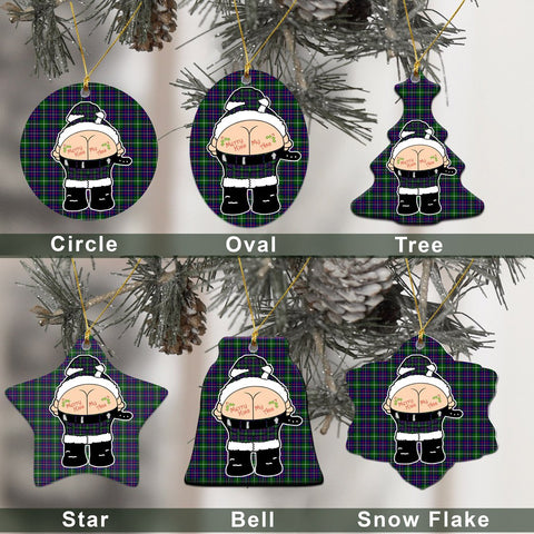 Inglis Modern Tartan Christmas Decor - Ross Ceramic Ornament - Funny Style A7
